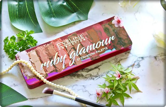 Ruby Glamour - jeżynowa paleta cieni od Eveline.