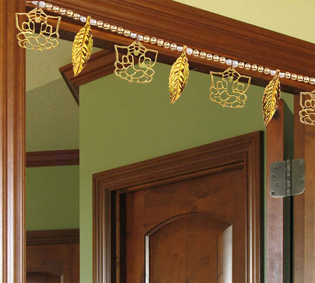 Golden-Ganesh-Ji-Leaf-Pearl-Traditional-Subh-Labh