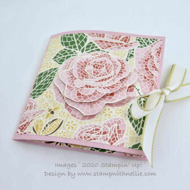 Mosaic Mood teabag holder Stampin Up