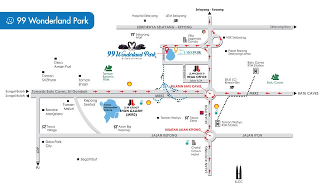 Directions to 99 Wonderland Park in KL