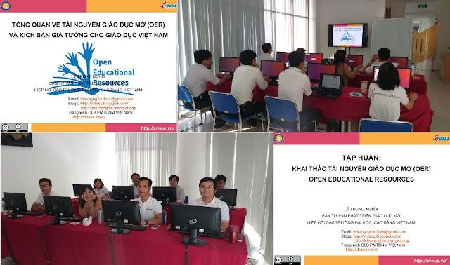 Khóa tập huấn 'Thực hành khai thác tài nguyên giáo dục mở' ở trường Đại học Tôn Đức Thắng