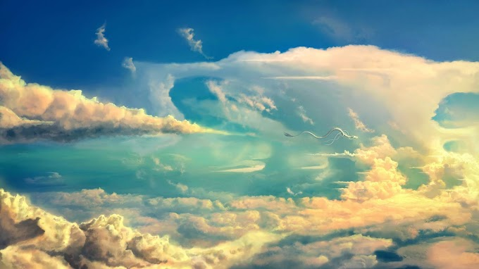 Dragão, Céu, Nuvens, Fantasia, Arte