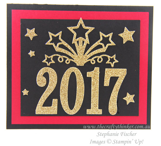 #thecraftythinker, New Year Card, Star Blast, Large Numbers, Pop Up card, Stampin' Up! Australia Demonstrator, Stephanie Fischer, Sydney NSW, Birthday Blast Bundle