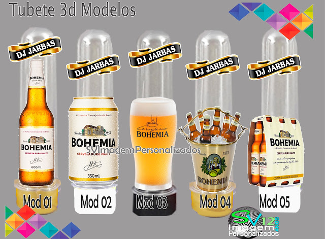 Boteco Cerveja Bohemia dicas e ideias para decoração de festa personalizados tubete 3d