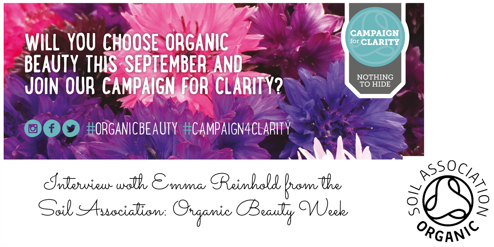 Chatting Organic Beauty Week with the Soil Association