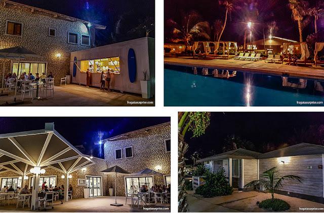 Piscina, restaurantes e bangalôs do Hotel Oásis Belorizonte