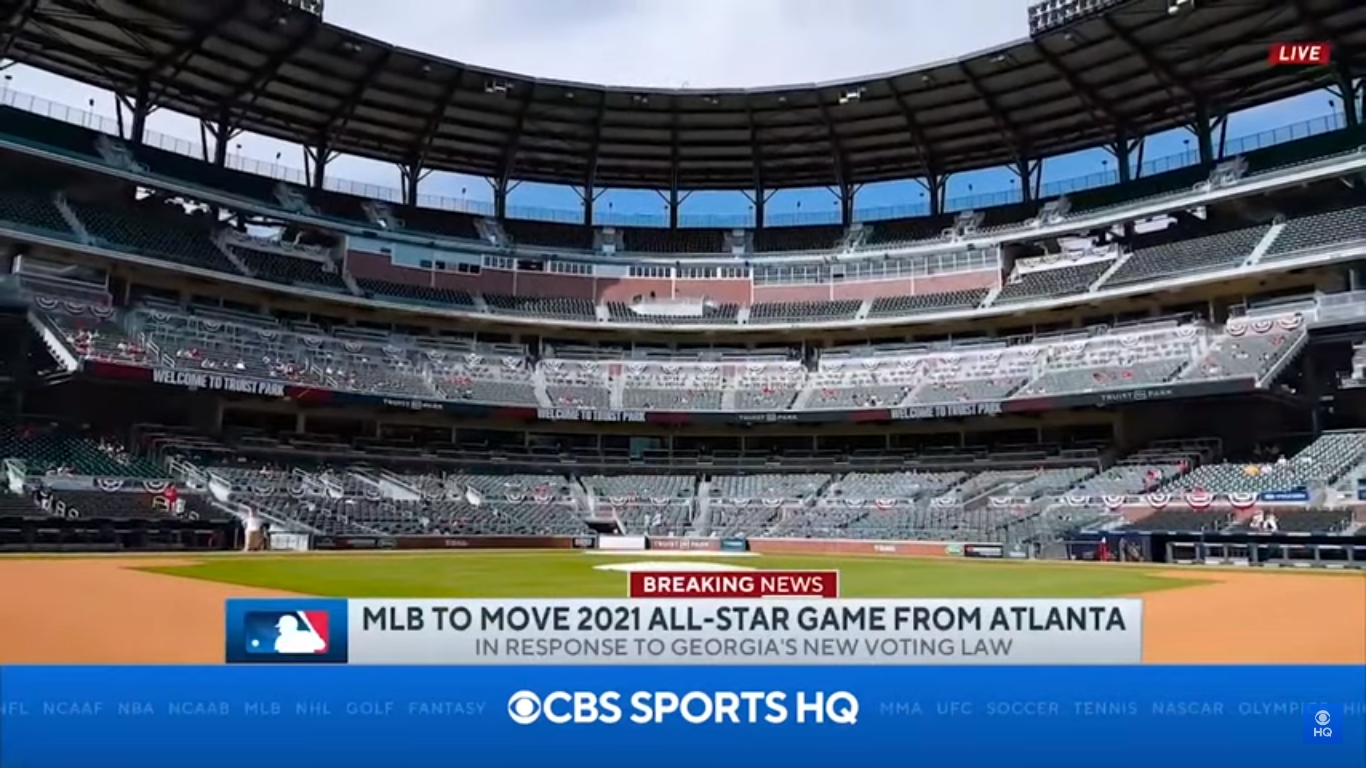 MLB moving 2021 All-Star Game from Atlanta over Georgia voting law