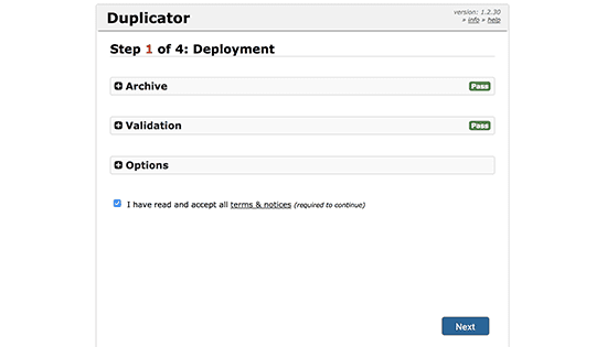 Duplikator-penginstal step1