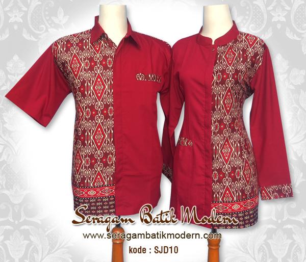Model Baju Batik Sarimbit Untuk Pakaian Seragam Keluarga: 10 Seragam Batik Kantor Sarimbit Modern, Elegan!