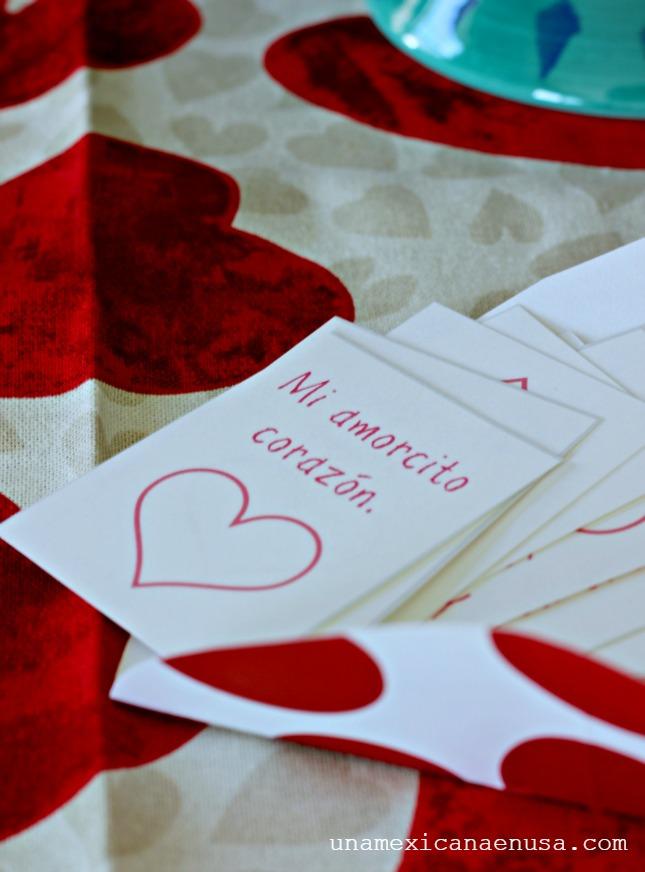 Notitas de amor bilingües para nuestros hijos