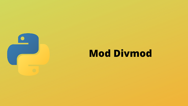 HackerRank Mod Divmod solution in python