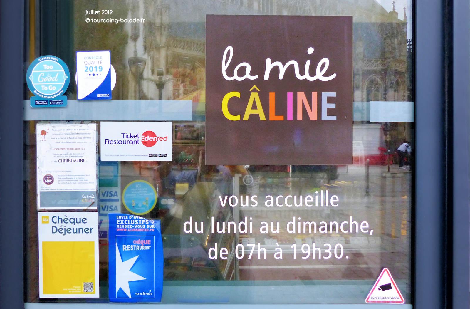 Horaires d'ouverture - Mie Caline, Tourcoing centre