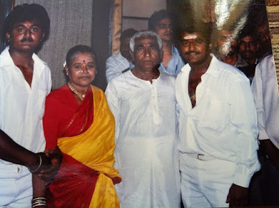 Jaggesh with father mother and brother