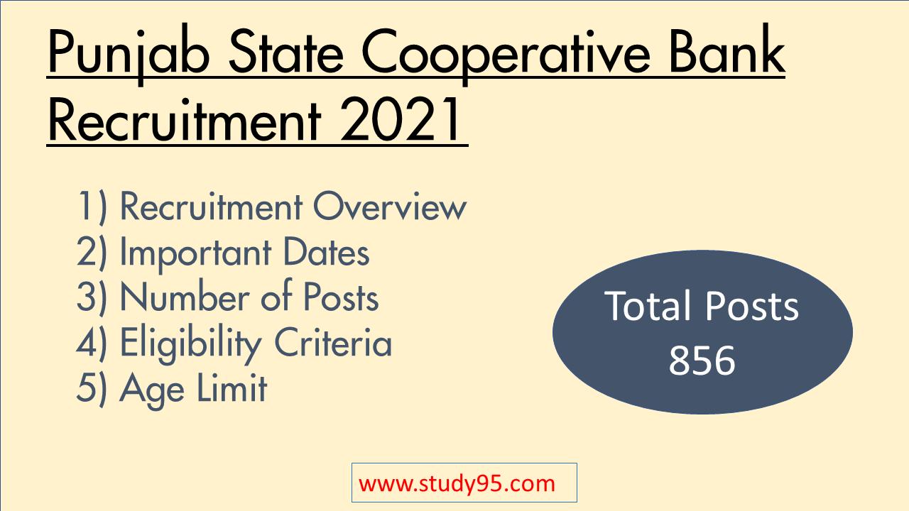 Punjab Cooperative Bank Recruitment 2021 Notification