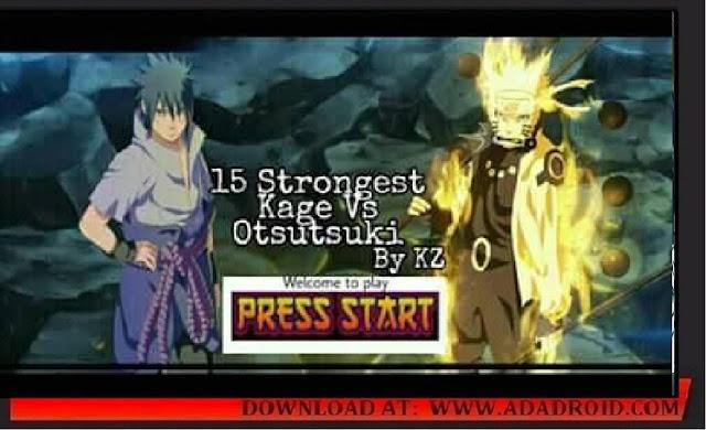 Naruto Senki 15 Strongest Kage VS Otsutsuki Mod Apk