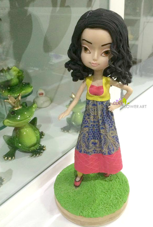 Cutie- Anarkali  | Clay Flower Art