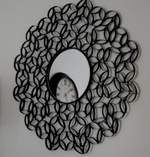How to Turn Toilet Paper Rolls Into a Gorgeous Piece of Wall Art