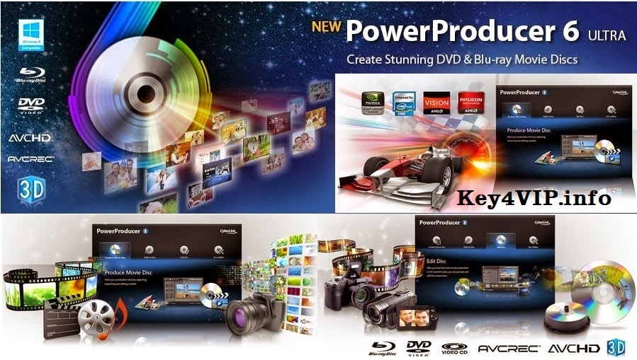 CyberLink PowerProducer Ultra 6.0.3026 Final Full Key,Phần mềm xử lý cao cấp Video.Phim.Clip,Tạo đĩa DVD,Bluray...
