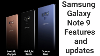 The all new Samsung Galaxy Note 9 features and updates.