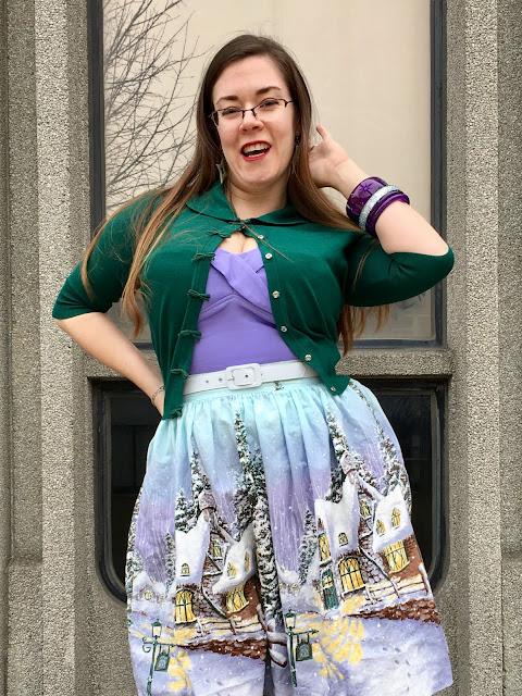 Bernie Dexter Winter Wonderland Skirt