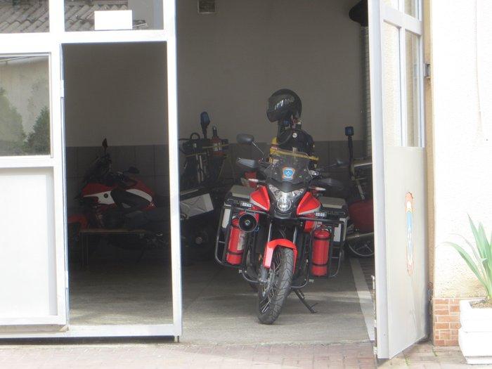 мотоцикл в пожарной части