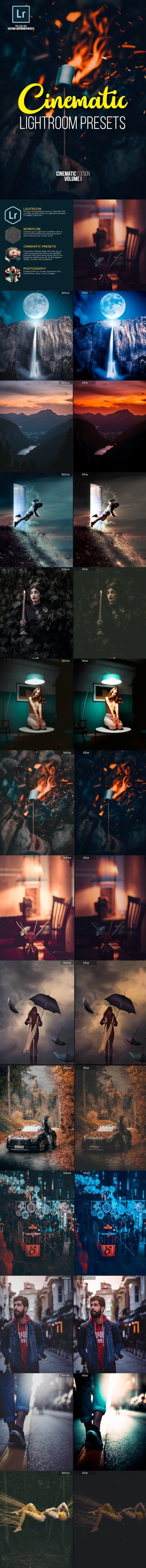 Cinematic lightroom presets ed