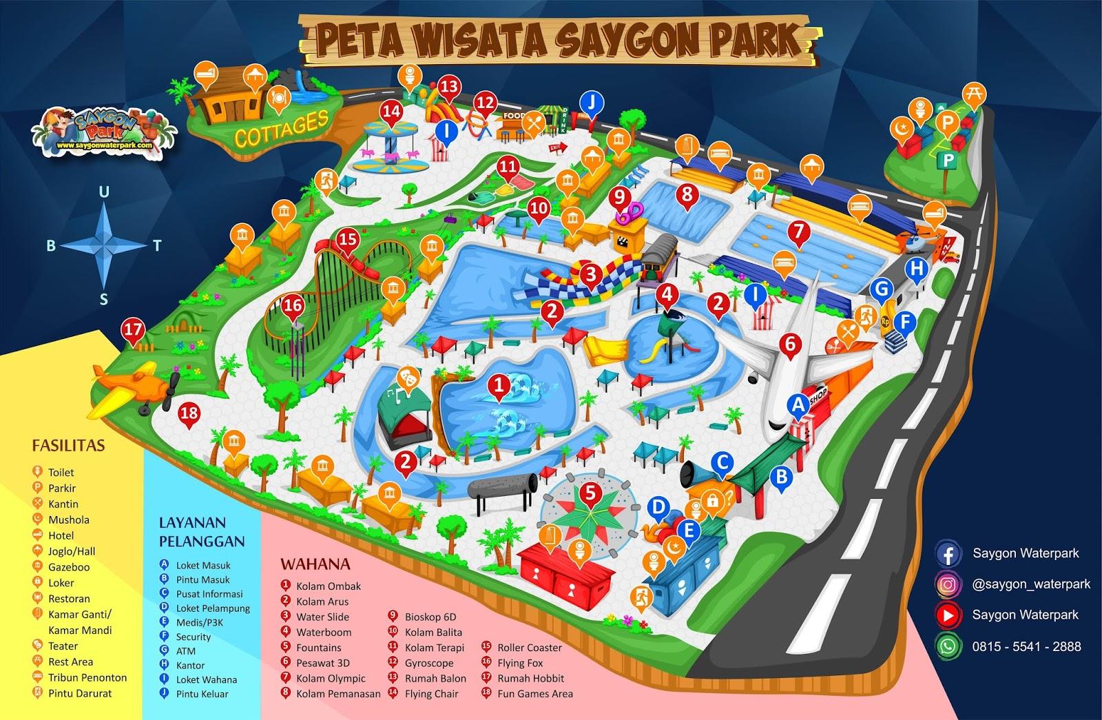Peta Lokasi Saygon Waterpark