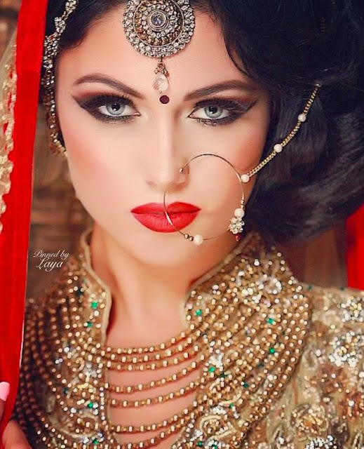 STYLISH BRIDAL NOSE PIN WHIT JHUMAR FOR BRIDE:FASHION$STYLE