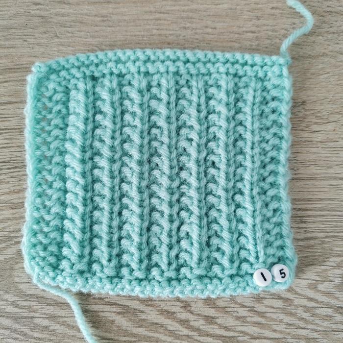 point de sillon au tricot, vue de face, par Chat Tricote Par Ici, Hello c'est Marine