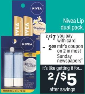 Bargain on Nivea Lip Duo Packs at CVS