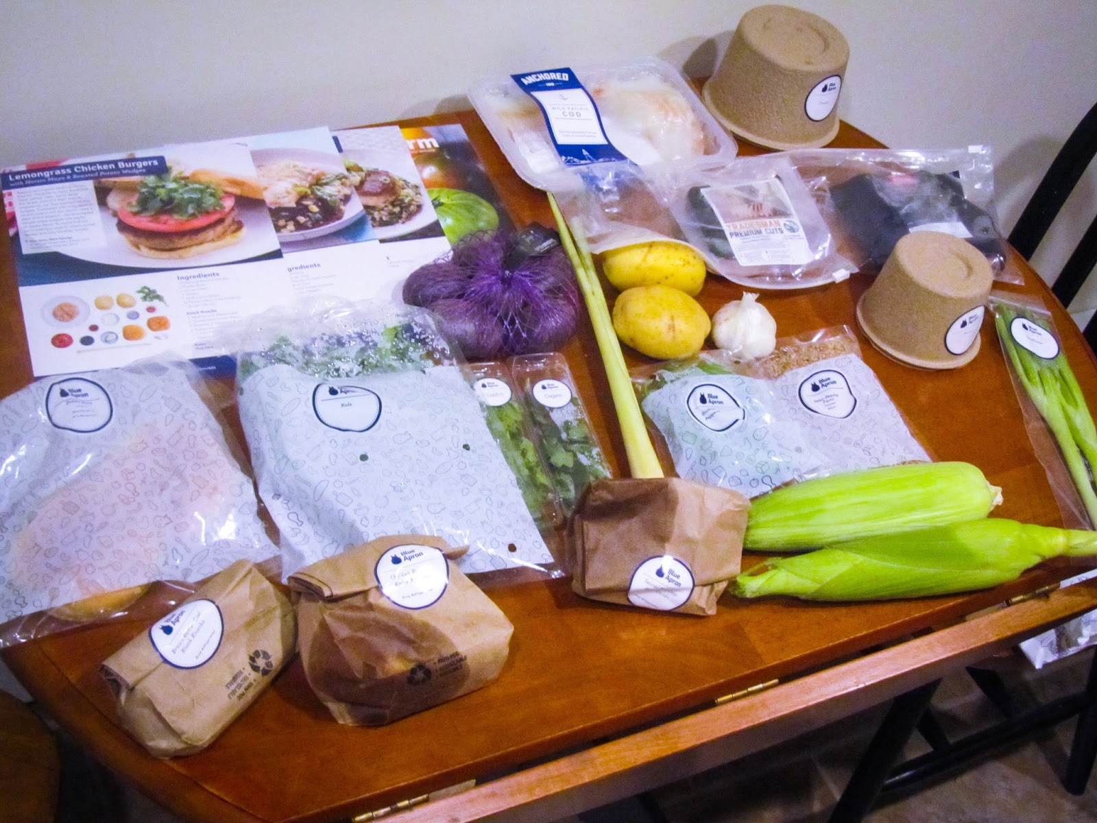 Blue apron lemongrass burger - And Here Is What All Of The Goodies Look Like Unboxed There Was So Much Food