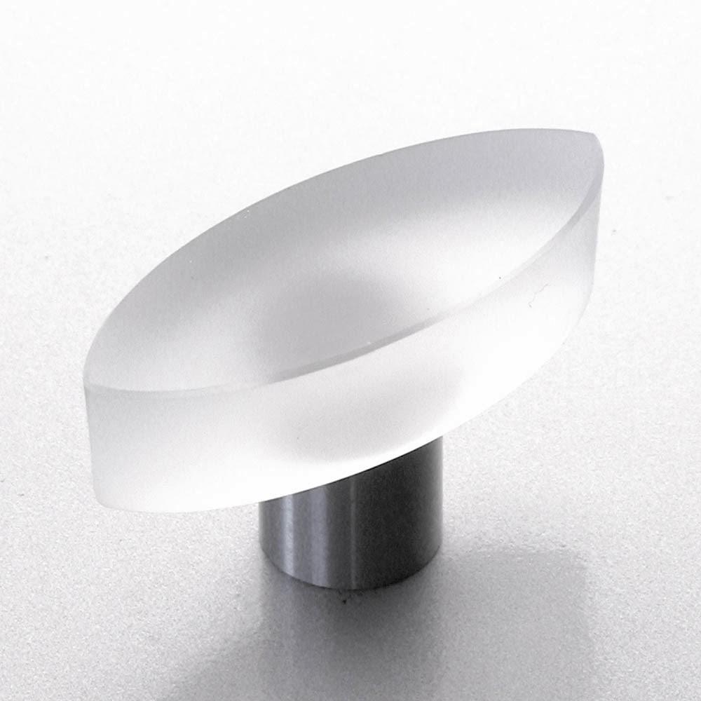 m belkn pfe aus glas und kristall design m belknopf edelstahl glas 40mm matt. Black Bedroom Furniture Sets. Home Design Ideas