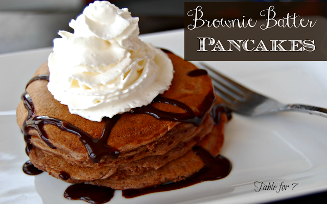 Brownie Batter Pancakes