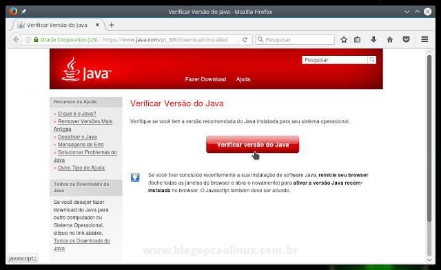 Verificar a versão do Java instalada