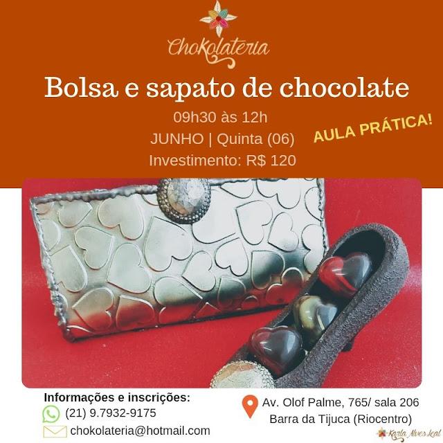 CURSO | Bolsa e sapato de chocolate - Junho 2019