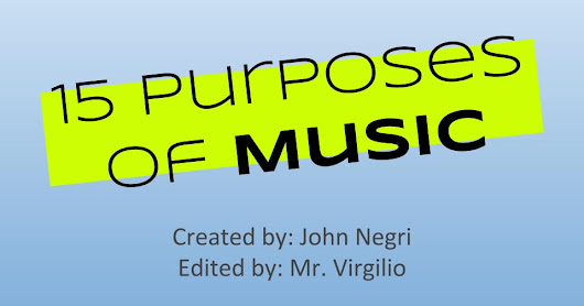 Lesson Reflection #1- The Purpose of Music