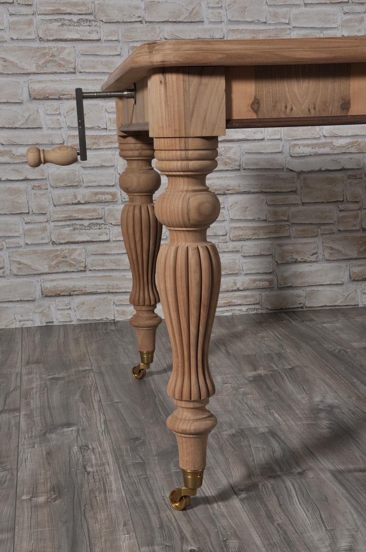 Lussuoso tavolo allungabile inglese a manovella in legno ...