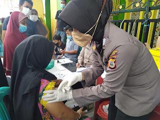 Mempercepat Vaksinasi, Kapolres Pelabuhan Makassar buka gerai Vaksin Sistem Door to door