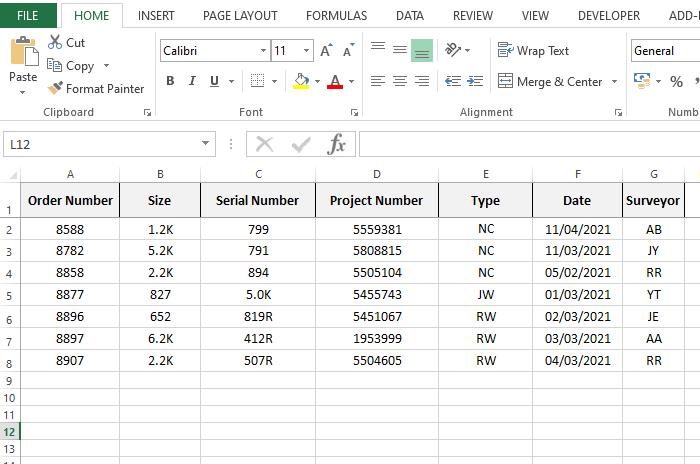 Data saving sheet