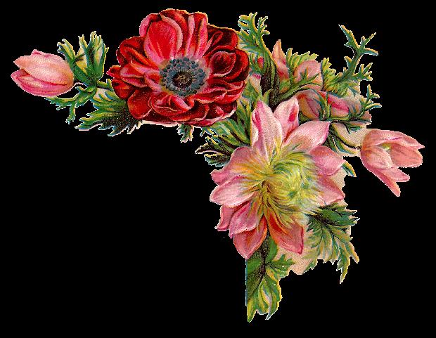 Vintage Flower Corner Design