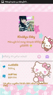 BBM Mod Hello kitty pink biru