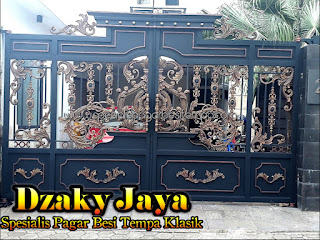 Contoh Model Pagar Tempa Klasik yang dipasang di Kebayoran Lama, Jakarta selatan