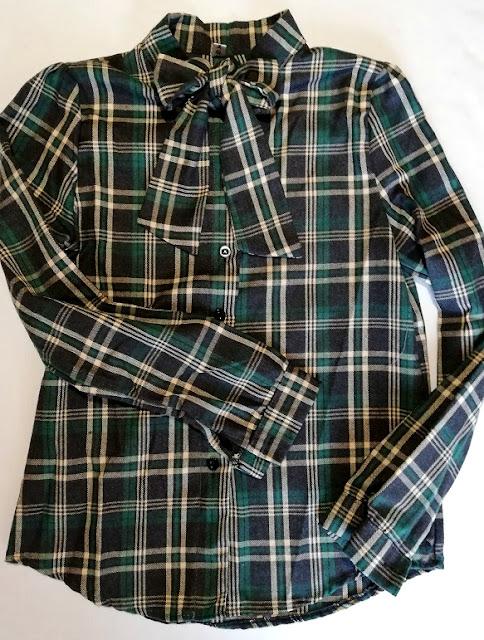 plaid, karirana, košulja, shirt, checkered, green, bot, mašna, grunge, autumn, fall, jesen