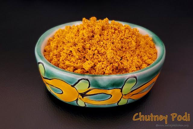 images of Chutney Podi / Chutney powder / Karnataka Style Chutney Pudi