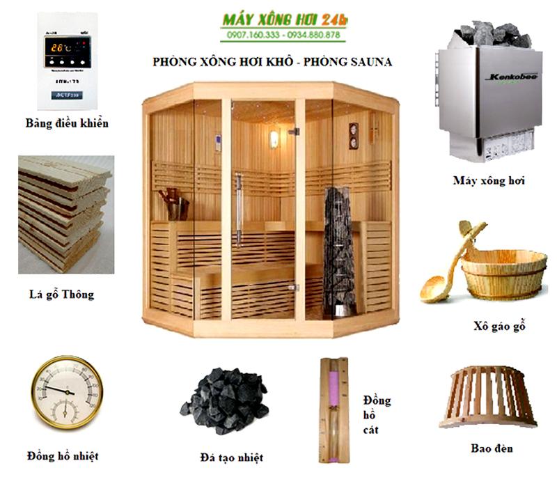 Thiết bị, phụ kiện phòng xông hơi khô (sauna room)