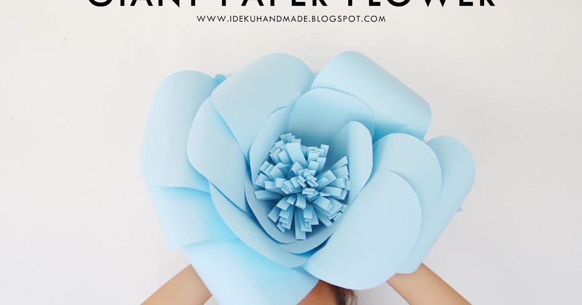 ideku handmade: #myDIYstories Volume 4: Giant paper flower
