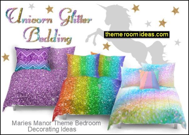 unicorn bedroom accessories unicorn glitter bedding  unicorn glitter bedroom decor unicorns