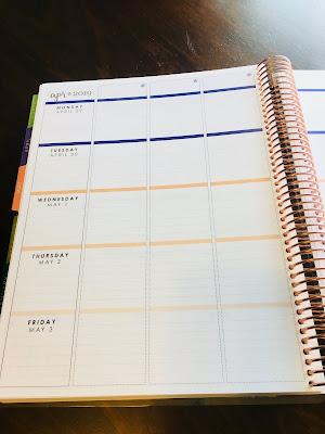 weekly view of teacher planner