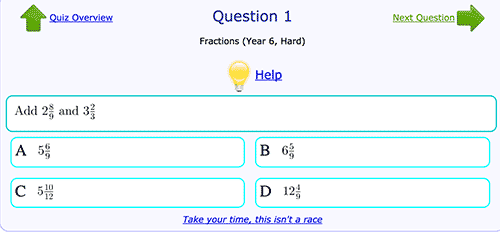 Addition of fractions - Hard level