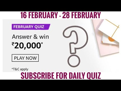 February quiz Question and Answer